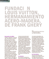 "Museum Fondation Louis Vuitton: ""Hermanamiento acero-madera"""